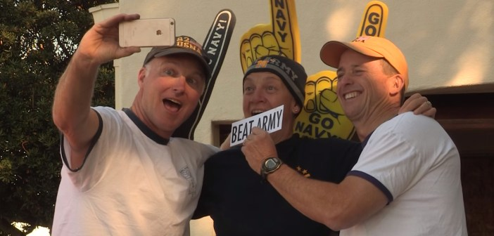 Vice Admirals Shoemaker, Tyson and Rowden filmed a spirit spot hyping the upcoming Army-Navy game.