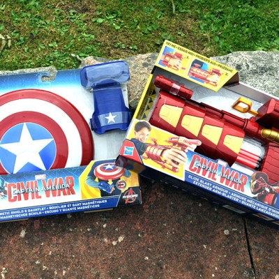 Review: Captain America Nerf Slide Blast Armour, Magnetic Shield & Gauntlet