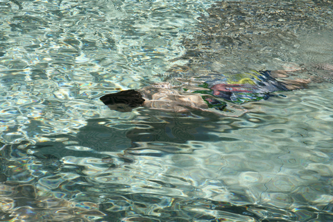 child swimming