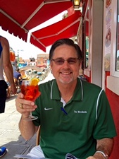 Trying my first aperol spritz in Burano