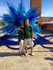 Murano Scot and Julie with glass starburst