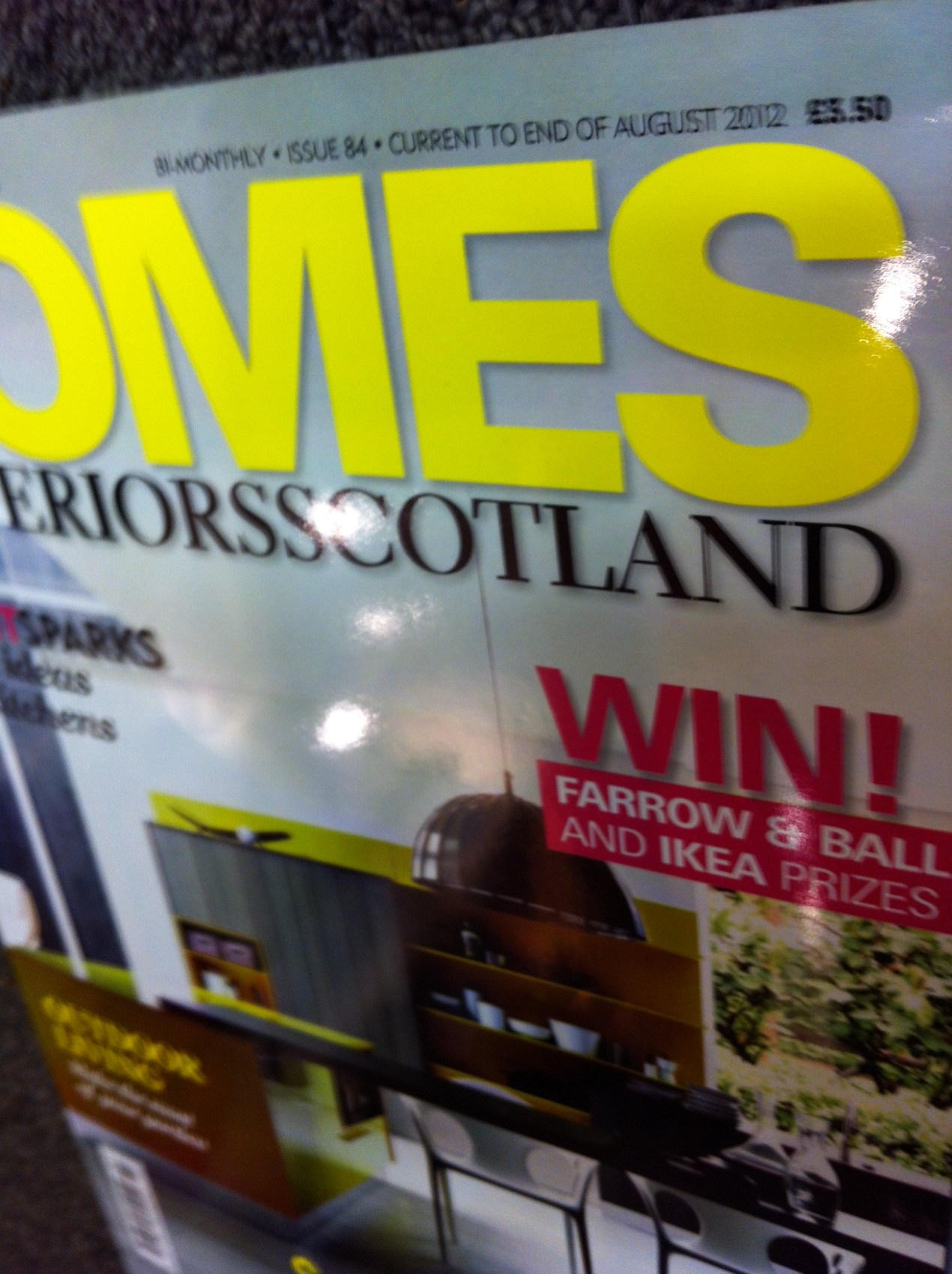 Homes and Interiors Magazine Article 2012