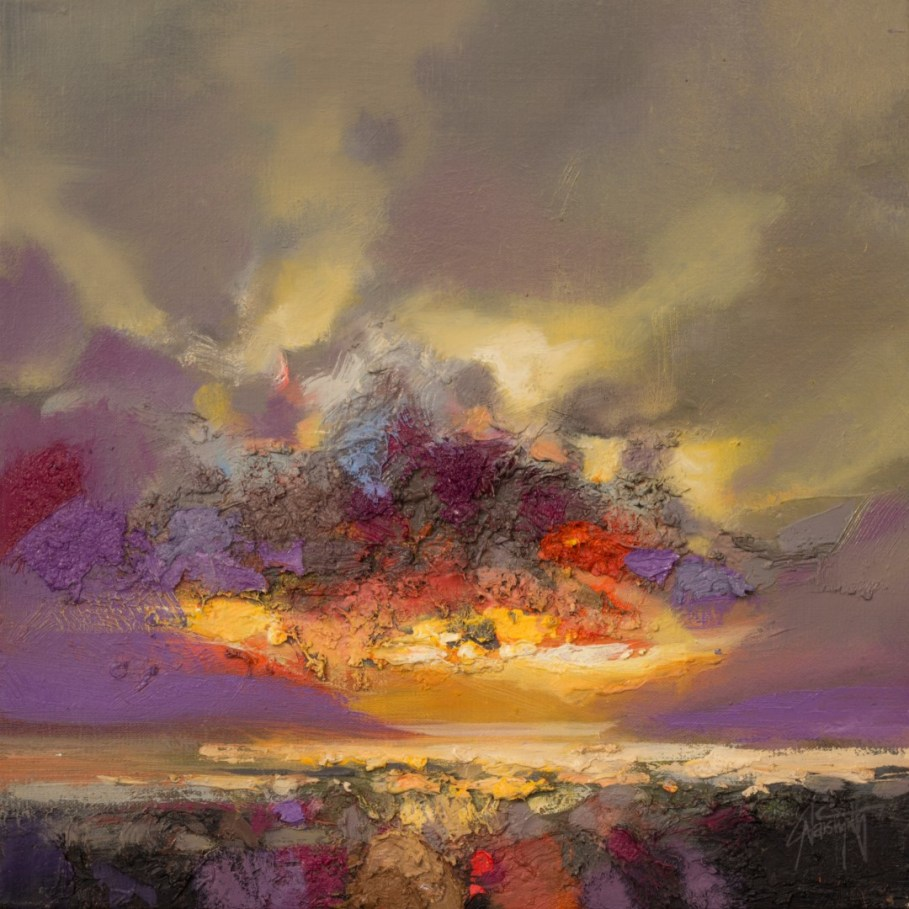Smoke and Mirrors skyscape painting by Scott Naismith