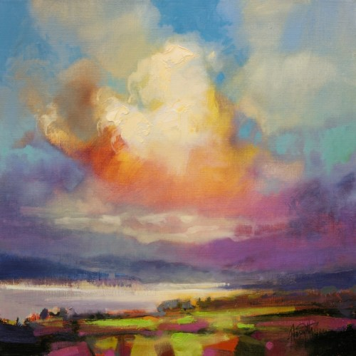 Wind 2 skyscape painting by Scott Naismith