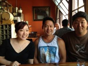 The three of us at Radiator Whiskey