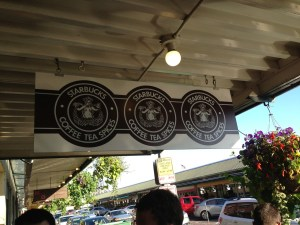 The very first Starbucks at Pike's Place