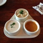New England and Manhattan Clam Chowders and Ivar's Seafood Chowder