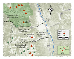 Trail Tips Snowshoe Buena Vista Colorado Map