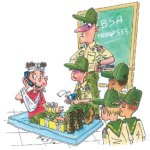 Boy Scout Image -- Cell phone use