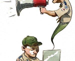 Boy Scout Image -- Communication