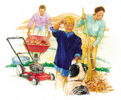 Boy Scout Image  --  Cooperation