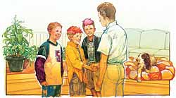 Boy Scout Image -- Friends