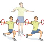 Split Squat With Arm Circles