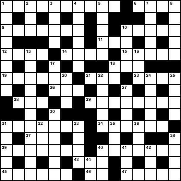 Myles Mellor's Crossword
