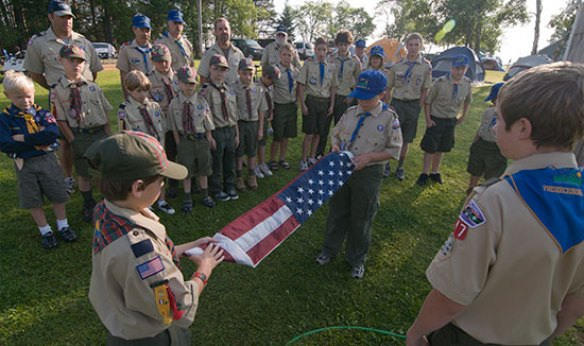 Scout flag ceremony
