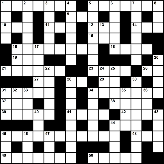 Test your knowledge of outdoor gear with this crossword puzzle