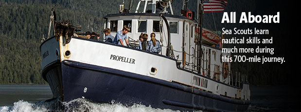 Sea Scouts learn nautical skills and life lessons during trip to Alaska