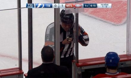Referee Brad Watson, Montreal Canadiens Return To The Ice