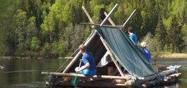FIELD TRIP #627 | A Slow, Quiet Float On A Log Raft Down The Klarälven River In Sweden