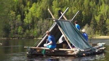 FIELD TRIP #627   A Slow, Quiet Float On A Log Raft Down The Klarälven River In Sweden