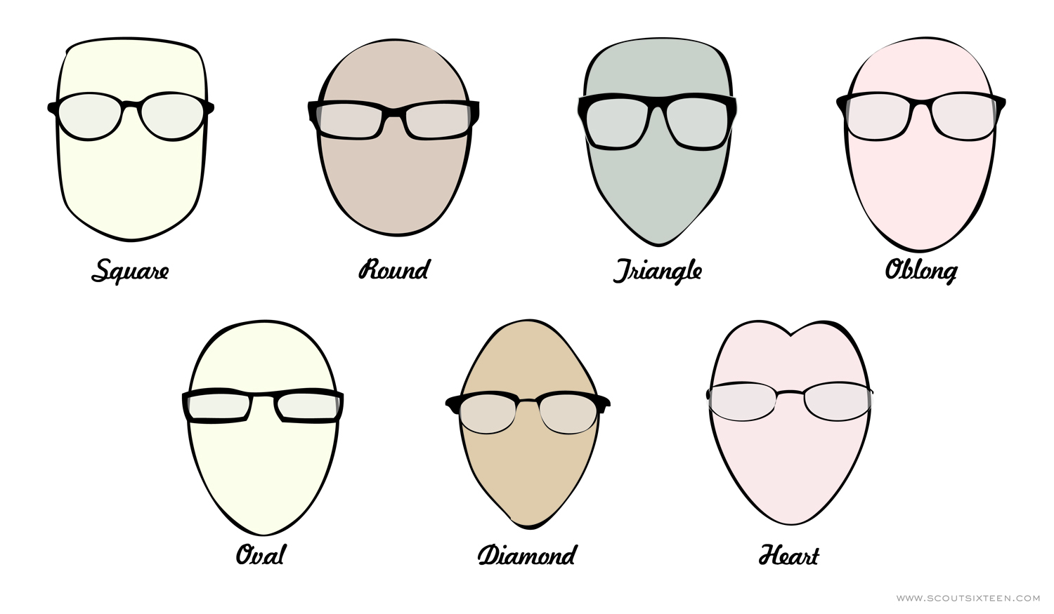 Eyeglass Frames Round Face Shapes : Oblong Face Shape Glasses
