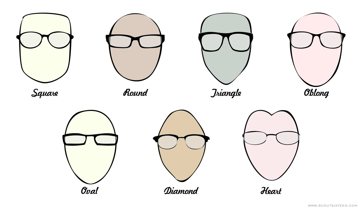 Best Glasses Frame Shape For Square Face : her style Scout Sixteen
