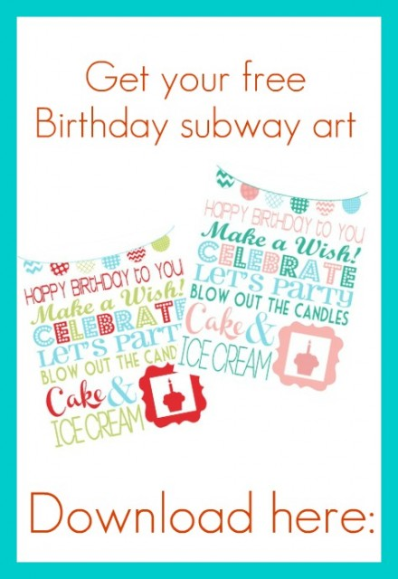 Free printable poster birthday subway art scrap booking for Birthday posters free download