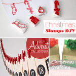 Three Christmas Crafting Tutorials | DIY Stamps, Advent Calendar and Gift Bags
