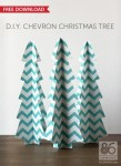 Freebie and Tutorial | Chevron Christmas Trees