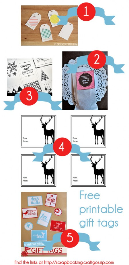 Wednesday Round-Up   Free Printable Gift Tags