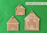 Tutorial | Cardboard Gingerbread House Gift Tags