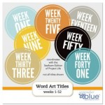Freebie | Printable Weekly Titles for Project Life from September Blue