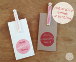 Free Printable | Naturally Sweet Valentine's Cards from Five & One