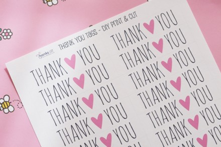 printable valentine thank you tags from Thankslot