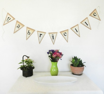 DIY Banner Tutorial for Parties from The Postman's Knock