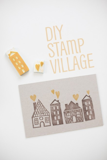 DIY Stamp Village from fellowfellow