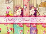 Freebie | Vintage Trance Printable Papers and Tags