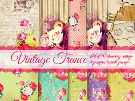 Free printable Vintage trance kit from Craft a Doodle Doo