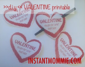Valentine Printable from Instant Mommie
