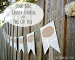 Tutorial | Book Page Quote Banner + a Free Cut File!