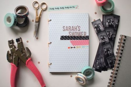 Tutorial - Bridal Shower Guestbook from Leona Lane