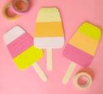 Tutorial | Washi Tape Popsicle Cards