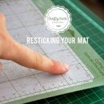 DIY| Make Your Cricut Cutting Mat Sticky Again