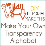 Tutorial | Make Your Own Transparency Alphabet