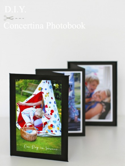 Tutorial - diy concertina photobook project by Kate's Creative Space