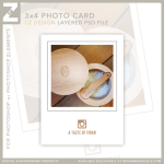 Freebie | Layered 3×4 PSD Template for Instagram Photos