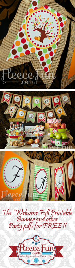 Freebie - Welcome fall banner from Fleece Fun
