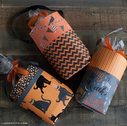 Tutorial - DIY Halloween Goody Bags by Lia Griffith