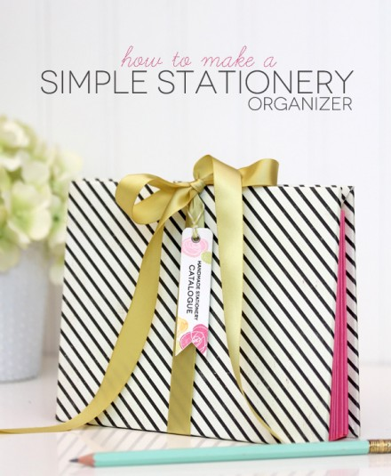 Tutorial - Make a Stationery Organizer by Damask Love