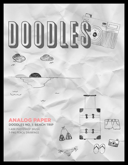 Freebie -Doodles-1-BeachTrip by Analog paper